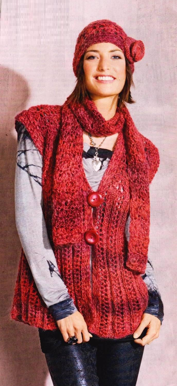 Вязание жилетов из меланжевой пряжи